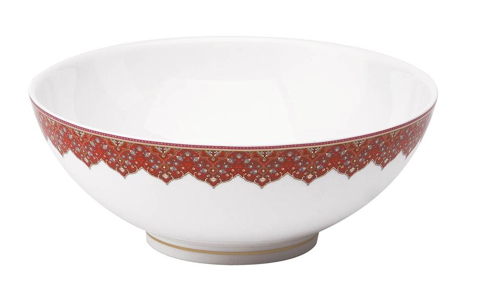 Philippe Deshoulieres Dhara red salad bowl large