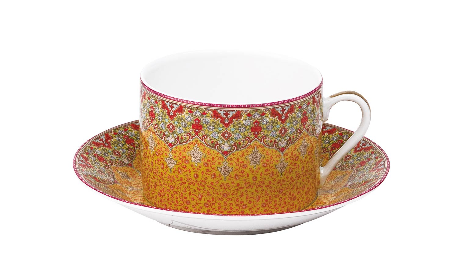 Philippe Deshoulieres Dhara red breakfast saucer