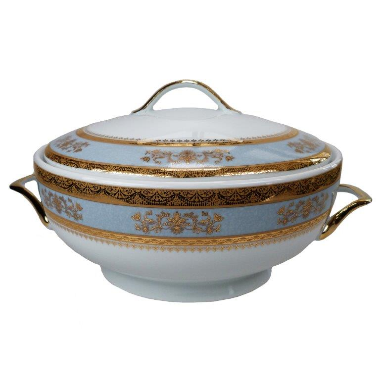 Philippe Deshoulieres Orsay powder blue soup tureen