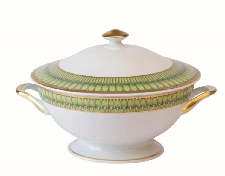 Philippe Deshoulieres Arcades green footed soup tureen