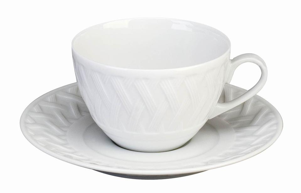 Philippe Deshoulieres Louisiane extra white tea saucer