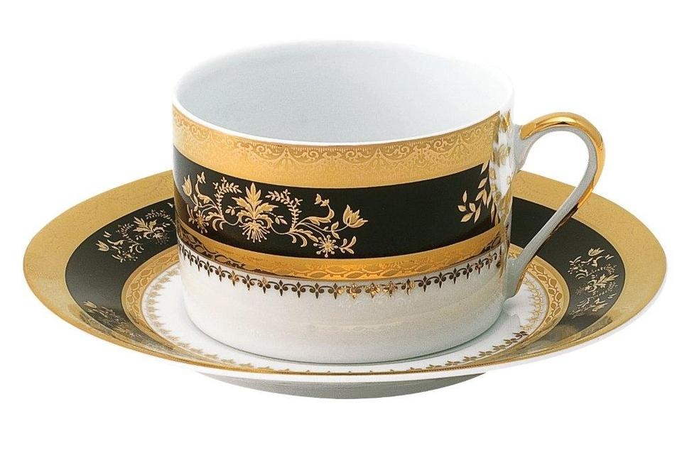 Philippe Deshoulieres Orsay black tea saucer
