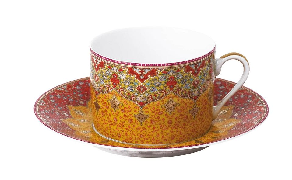 Philippe Deshoulieres Dhara red tea saucer
