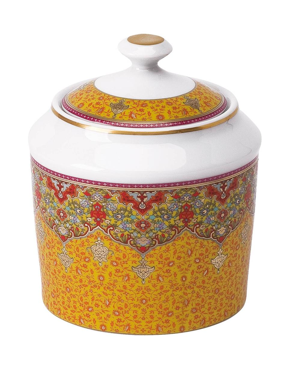 Philippe Deshoulieres Dhara red sugar bowl
