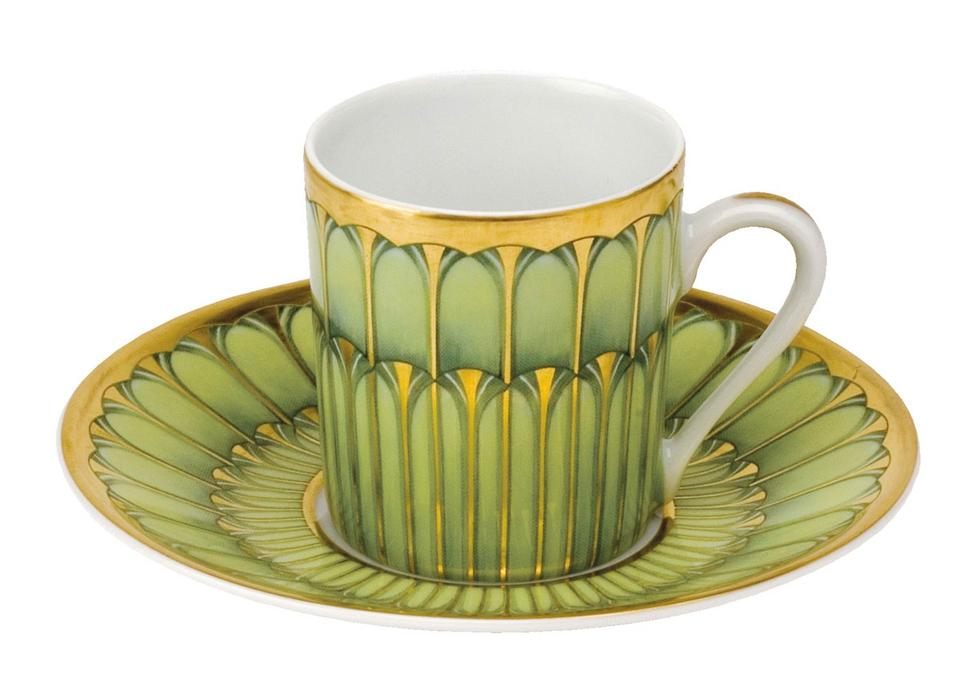 Philippe Deshoulieres Arcades green coffee cup