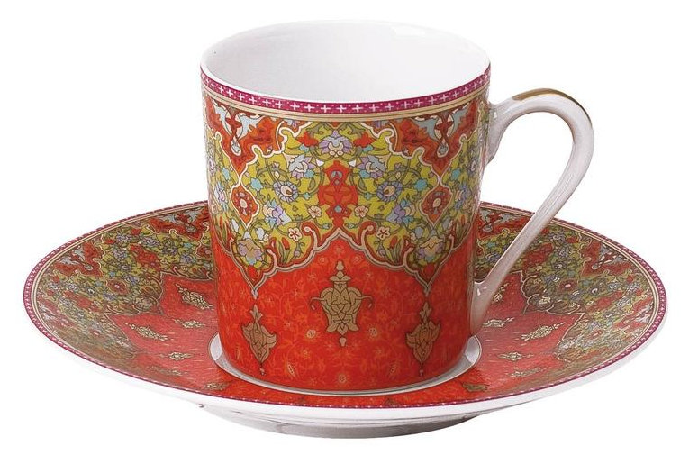 Philippe Deshoulieres Dhara red coffee cup