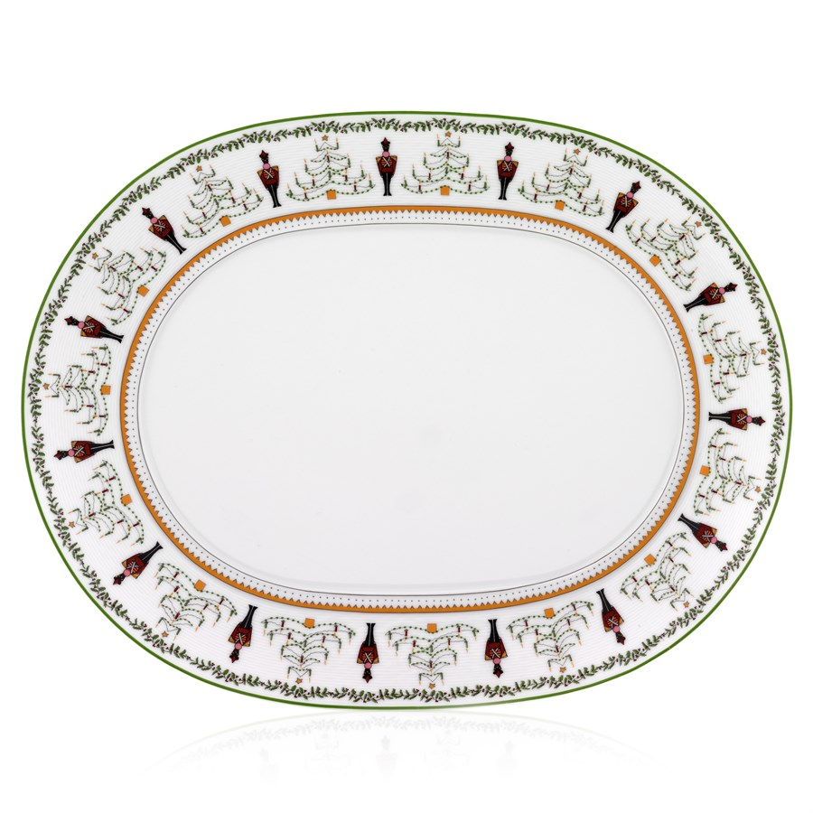 Bernardaud Grenadiers Oval Platter - 15 In