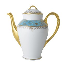 Bernardaud Eden Turquoise Coffee Pot