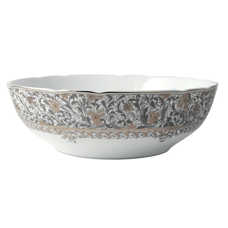 Bernardaud Eden Platinum Salad Bowl - 10 In