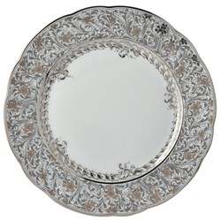 Bernardaud Eden Platinum Dinner Plate - 10.2 In