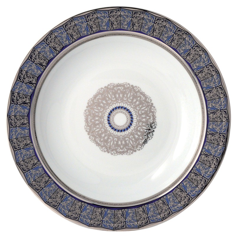 Bernardaud Eventail Blue Deep Round Dish Sp Order