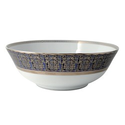 Bernardaud Eventail Blue Salad Bowl - 10 In