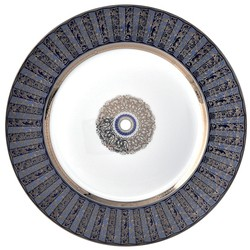 Bernardaud Eventail Blue Dinner Plate - 10.2 In