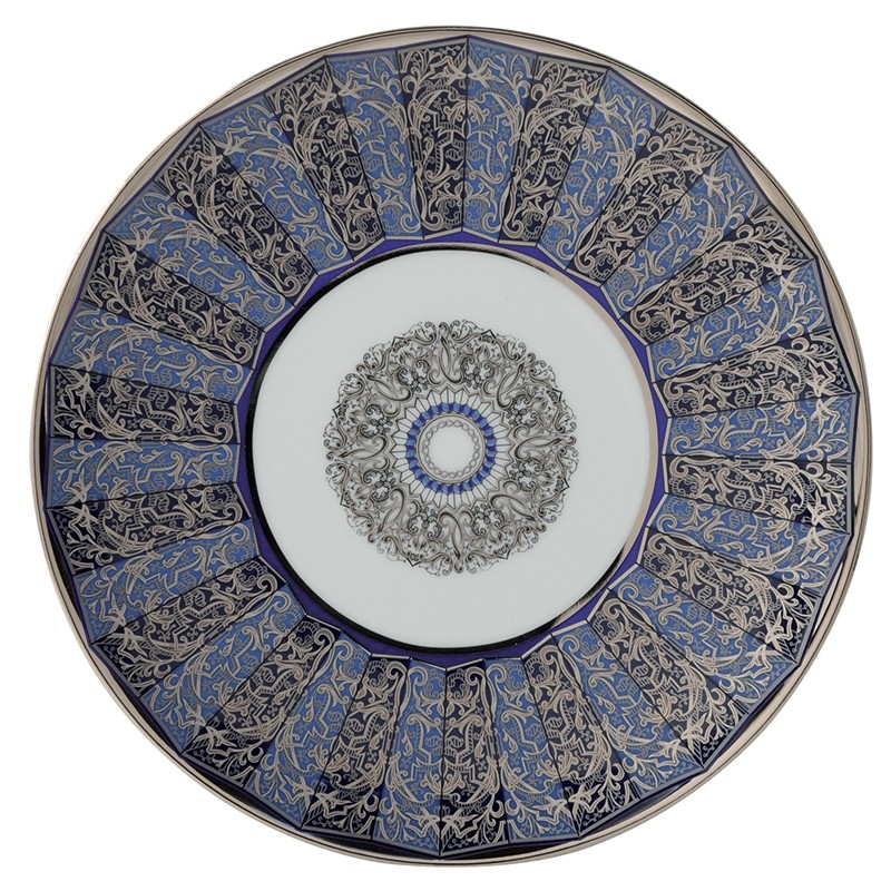 Bernardaud Eventail Blue Coupe Salad Plate - 8.3 In
