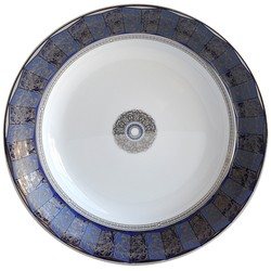 Bernardaud Eventail Blue Open Vegetable Bowl
