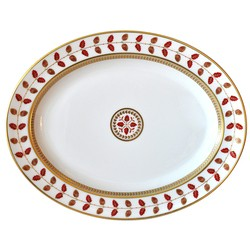 Bernardaud Constance Red Oval Platter - 13 In Sp Order