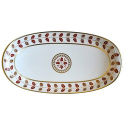Bernardaud Constance Red Relish Dish