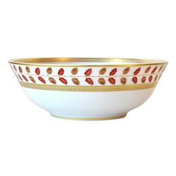 Bernardaud Constance Red Salad Bowl - 10 In