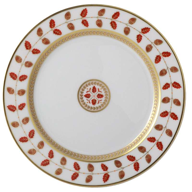 Bernardaud Constance Red Salad Plate - 8.3 In