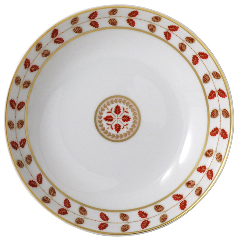 Bernardaud Constance Red Coupe Soup