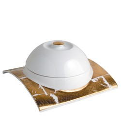 Bernardaud Gold Leaf Bell Cover Sp Order