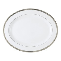 Bernardaud Athena Platinum Oval Platter - 15 In