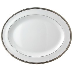 Bernardaud Athena Platinum Oval Platter - 13 In