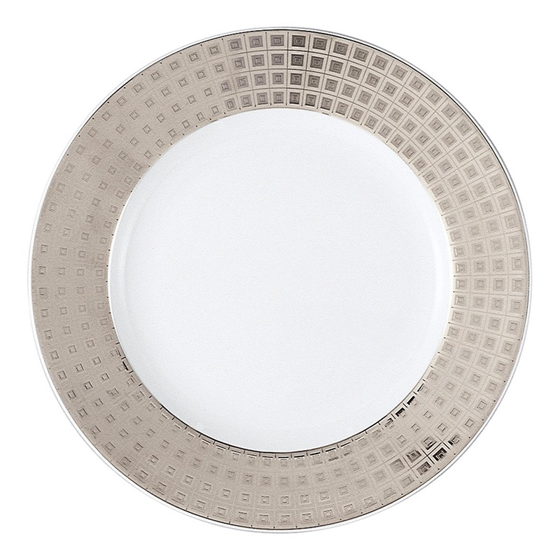 Bernardaud Athena Platinum Accent B & B Plate - Full Rim Design*