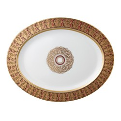Bernardaud Eventail Oval Platter - 15 In