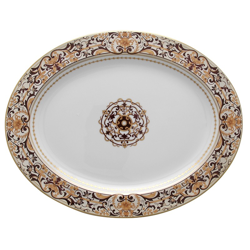 Bernardaud Boulle Oval Platter - 15 In