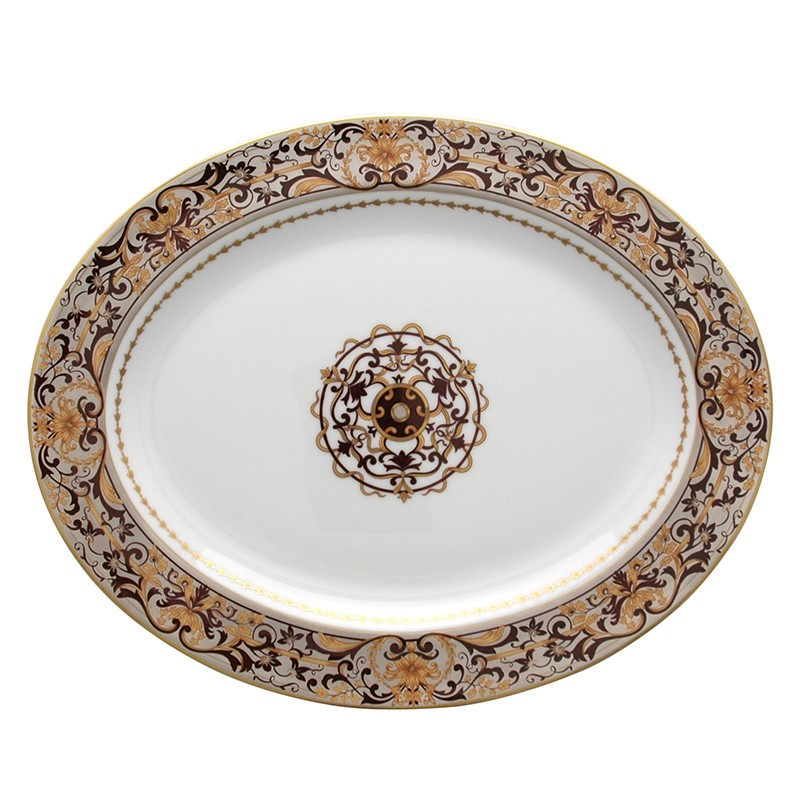 Bernardaud Boulle Oval Platter - 13 In