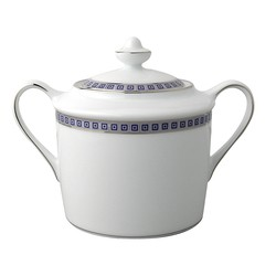Bernardaud Athena Platinum Navy Sugar Bowl