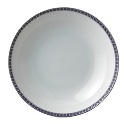 Bernardaud Athena Platinum Navy Coupe Soup