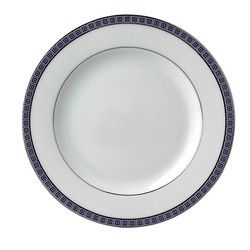 Bernardaud Athena Platinum Navy Bread & Butter Plate - 6.3 In