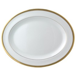 Bernardaud Athena Gold Oval Platter - 15 In