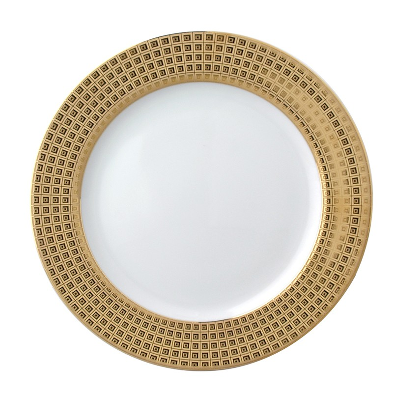 Bernardaud Athena Gold Accent Salad Plate - Full Rim Design