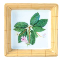 Bernardaud JARDIN INDIEN SQUARE ASHTRAY - 3 inX3 in