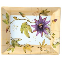 Bernardaud JARDIN INDIEN RECTANGULAR ASHTRAY 8.5 inX6.5 in