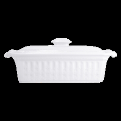 Bernardaud Louvre Covered Terrine - Rectangular - 13.8 X 5.1 In