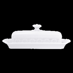 Bernardaud Louvre Covered Butter - Rectangular - 8.7 X 4.3 In