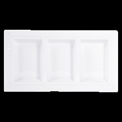 Bernardaud Louvre Three-Compartment Tray - 12.8 X 6.9 In