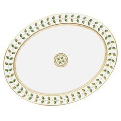 Bernardaud Constance Green Oval Platter - 13 In