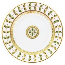 Bernardaud Constance Green Dinner Plate - 10.2 In