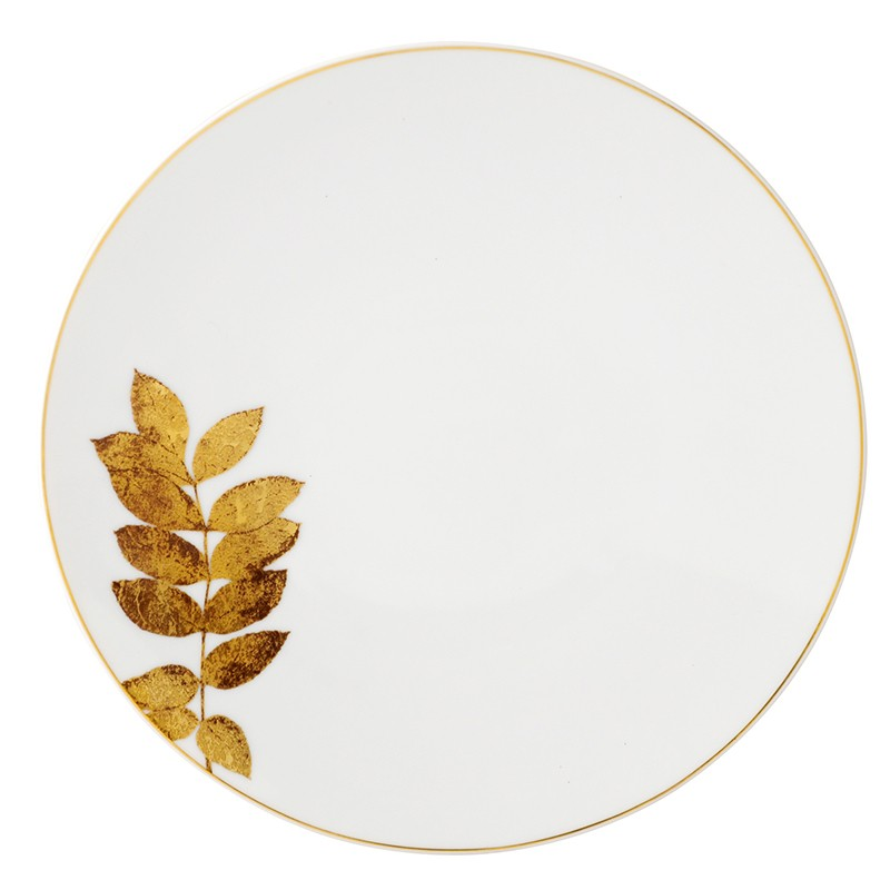 Bernardaud Vegetal Gold Coupe Salad Plate - 8.3 In