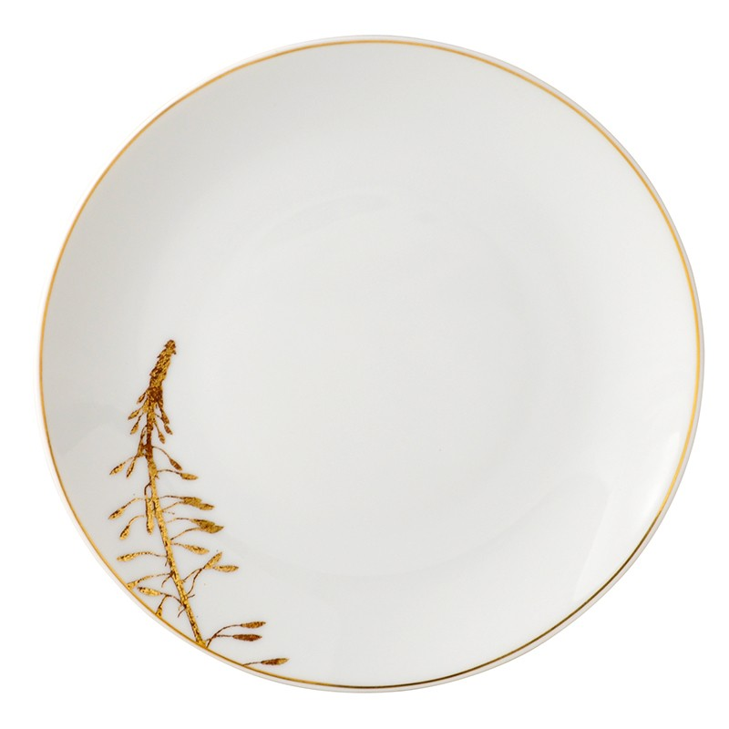 Bernardaud Vegetal Gold Coupe Bread & Butter Plate - 6.3 In