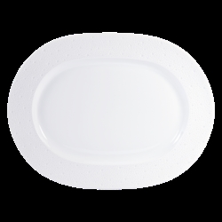 Bernardaud Ecume White Oval Platter - 17 In