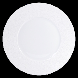 Bernardaud Ecume White Dinner Plate - 10.2 In