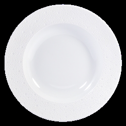 Bernardaud Ecume White Rim Soup - 9 In
