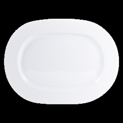 Bernardaud Ecume White Oval Platter - 11.8 In