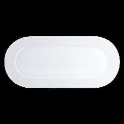 Bernardaud Ecume White Cake Platter Rectangular - 15 In